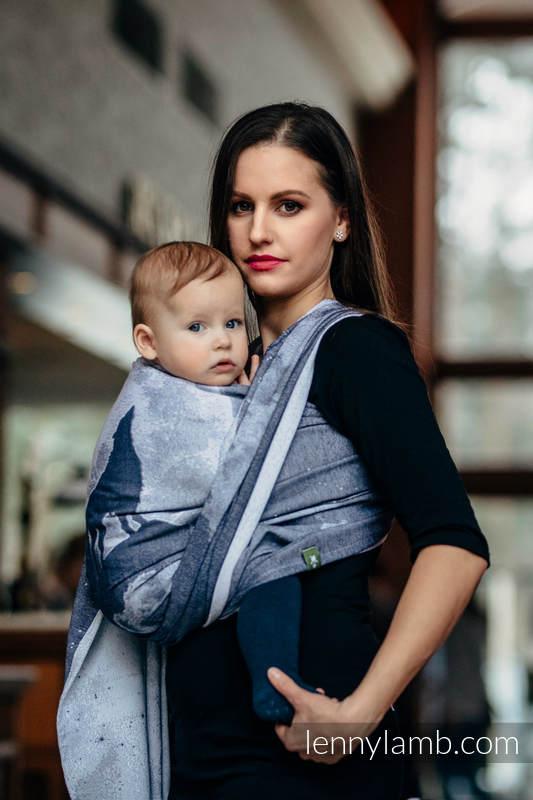 Żakardowa chusta do noszenia dzieci, bawełna - WILK W ŚWIETLE KSIĘŻYCA - rozmiar XL #babywearing