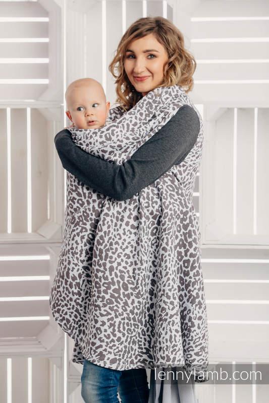 Long Cardigan - plus size - Cheetah Dark Brown & White #babywearing