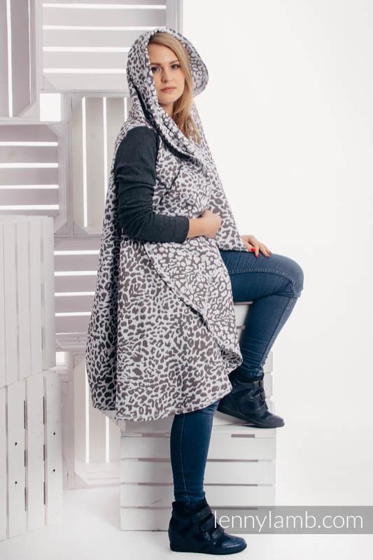 Long Cardigan - size S/M - Cheetah Dark Brown & White #babywearing