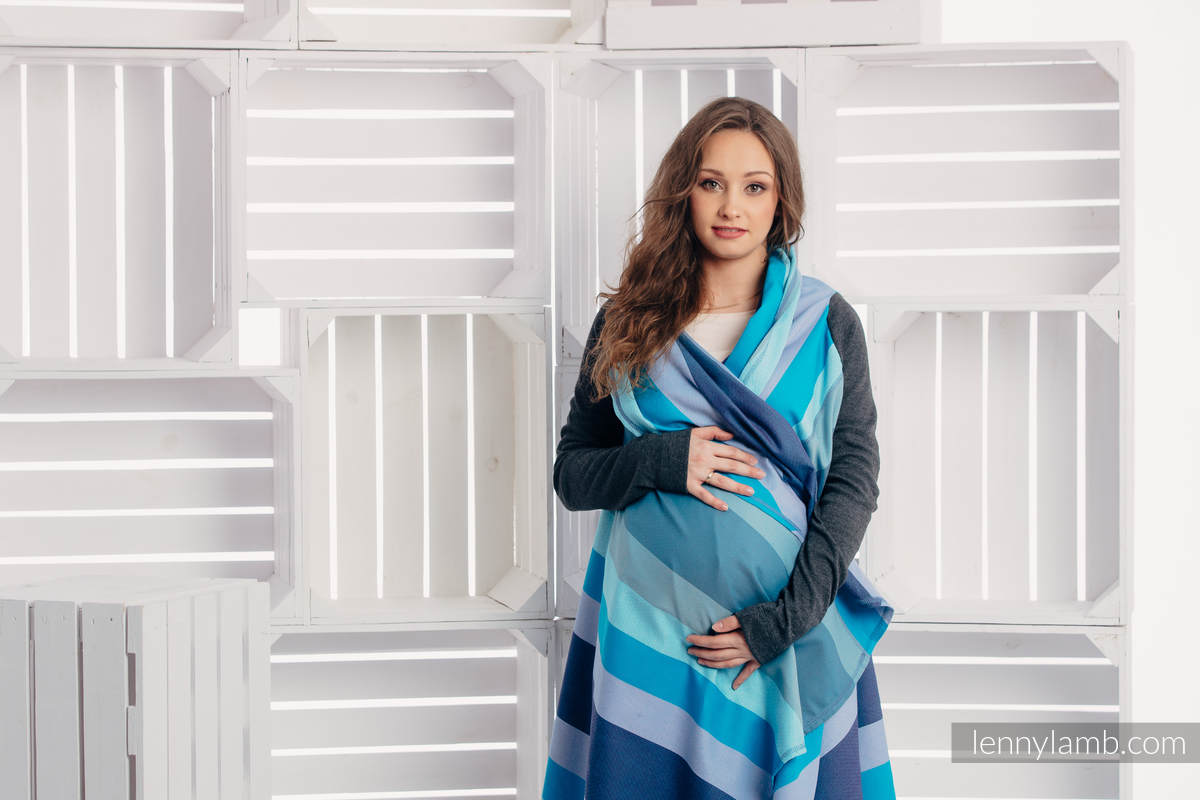 Long Cardigan - plus size - Finnish Diamond #babywearing
