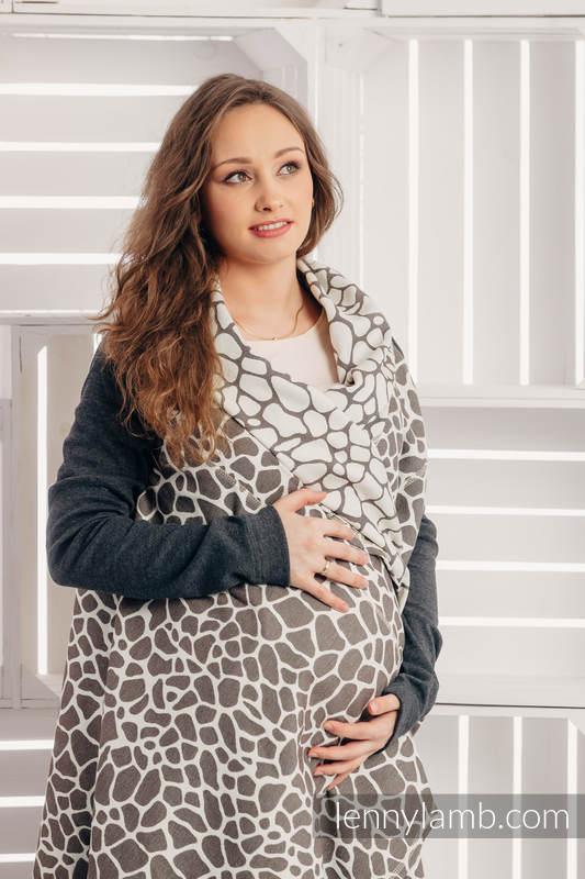 Długi kardigan - rozmiar L/XL - Żyrafa Ciemny Brąz z Kremem #babywearing