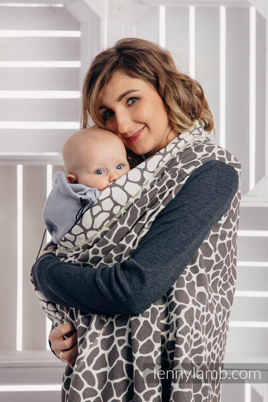 Long Cardigan - plus size - Giraffe Dark Brown & Cream #babywearing