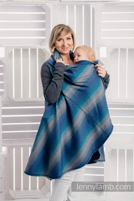 Long Cardigan - size S/M - Little Herringbone Illusion #babywearing