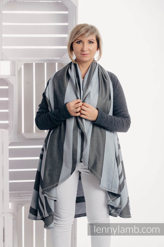 Cardigan largo - talla 2XL/3XL - Moon Rock #babywearing