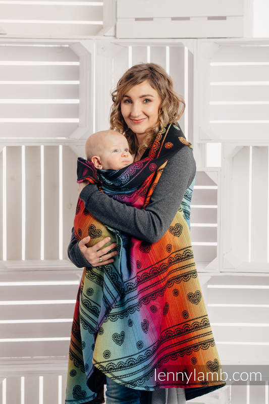Long Cardigan - plus size - Rainbow Lace Dark #babywearing