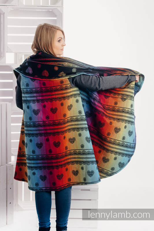 Long Cardigan - size 2XL/3XL - Rainbow Lace Dark #babywearing