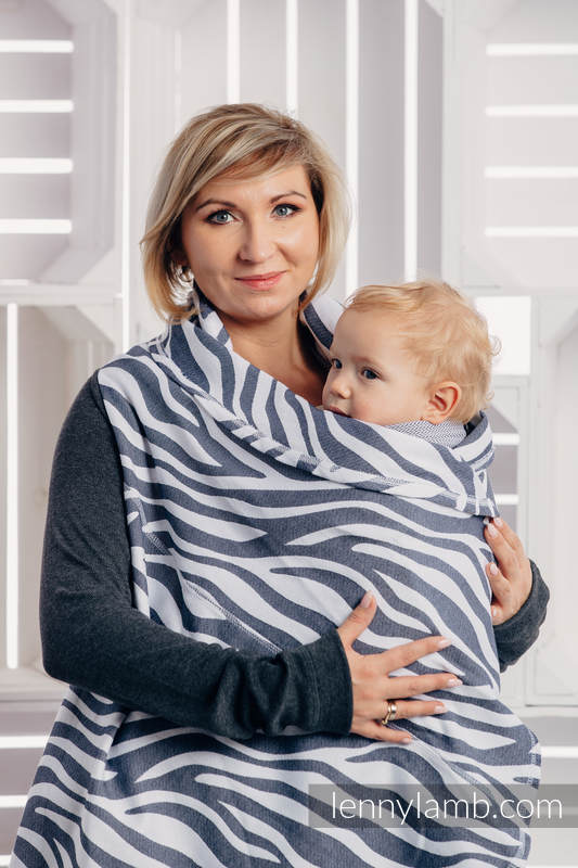 Long Cardigan - size L/XL - Zebra Graphite & White #babywearing