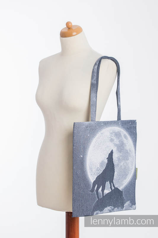 Shopping bag made of wrap fabric (100% cotton) - MOONLIGHT WOLF #babywearing