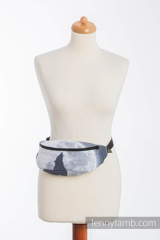 Waist Bag made of woven fabric, (100% cotton) - MOONLIGHT WOLF #babywearing