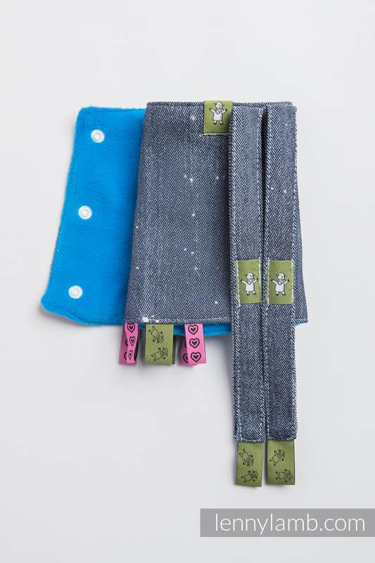 Set de protege tirantes y tiras de alcance (60% algodón, 40% Poliéster) - MOONLIGHT WOLF #babywearing