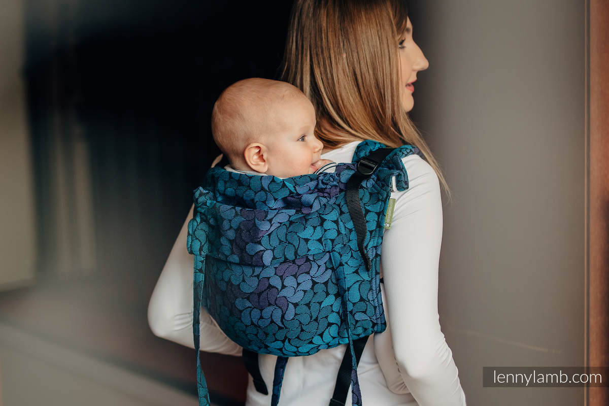 Lenny Buckle Onbuhimo, toddler size, jacquard weave (100% cotton) - Wrap conversion from COLORS OF NIGHT #babywearing