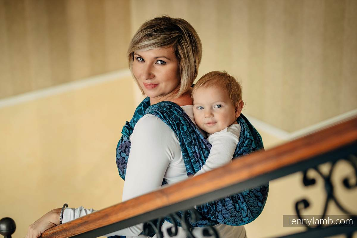 Baby Wrap, Jacquard Weave (100% cotton) - COLORS OF NIGHT - size XS #babywearing