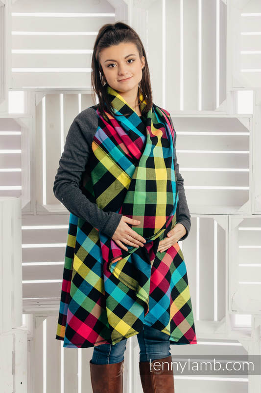 Long Cardigan - size 2XL/3XL - Diamond Plaid #babywearing