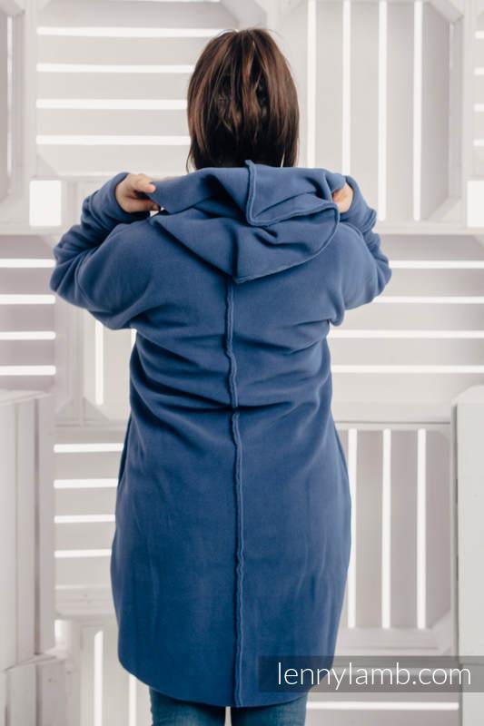 Asymmetrical Fleece Hoodie for Women - size M - Blue #babywearing