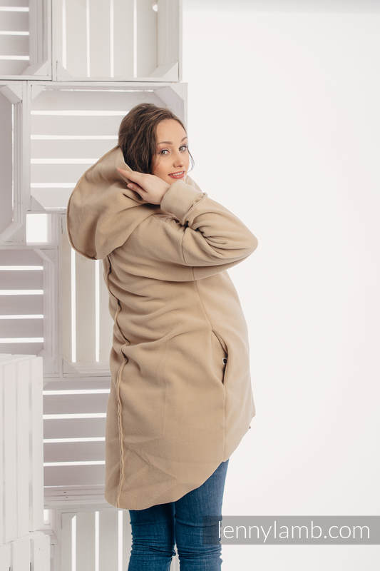 Asymmetrical Fleece Hoodie for Women - size S - Cafe Latte (grade B) #babywearing