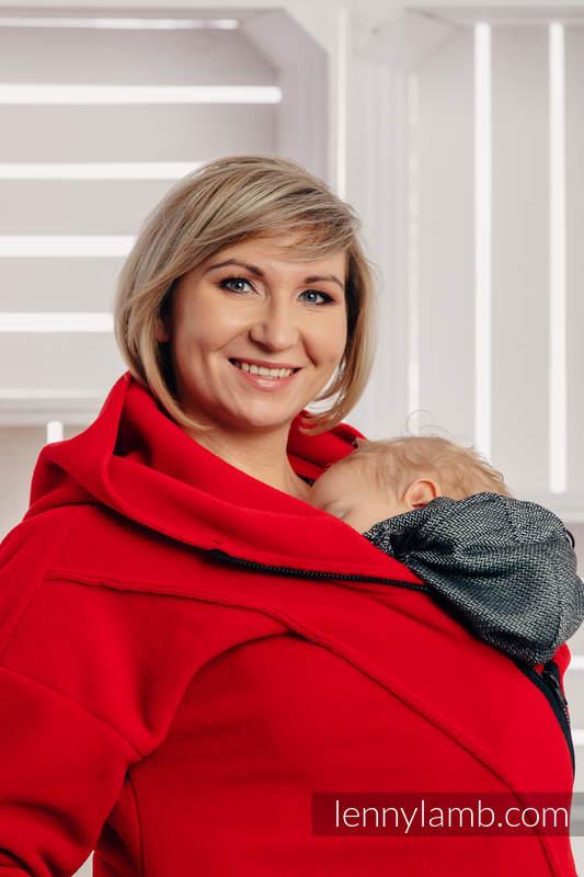 Asymmetrical Fleece Hoodie for Women - size XXL - Red (grade B) #babywearing