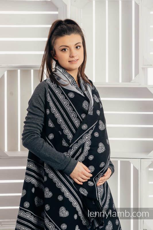Langer Cardigan - Größe 2XL/3XL - Glamorous Lace #babywearing