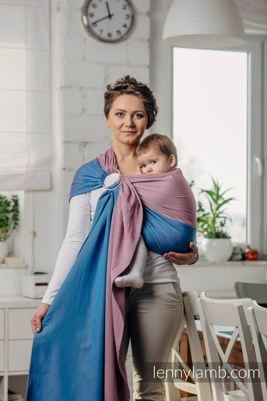 Basic Line Ring Sling - FLUORITE - 100% Cotton - Broken Twill Weave -  with gathered shoulder - standard 1.8m #babywearing