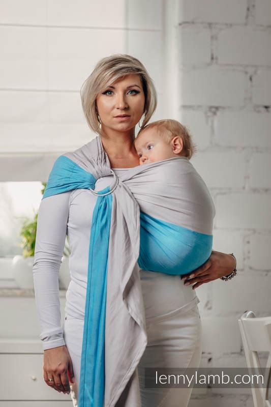 Basic Line Ring Sling - LARIMAR - 100% Cotton - Broken Twill Weave -  with gathered shoulder - standard 1.8m (grade B) #babywearing