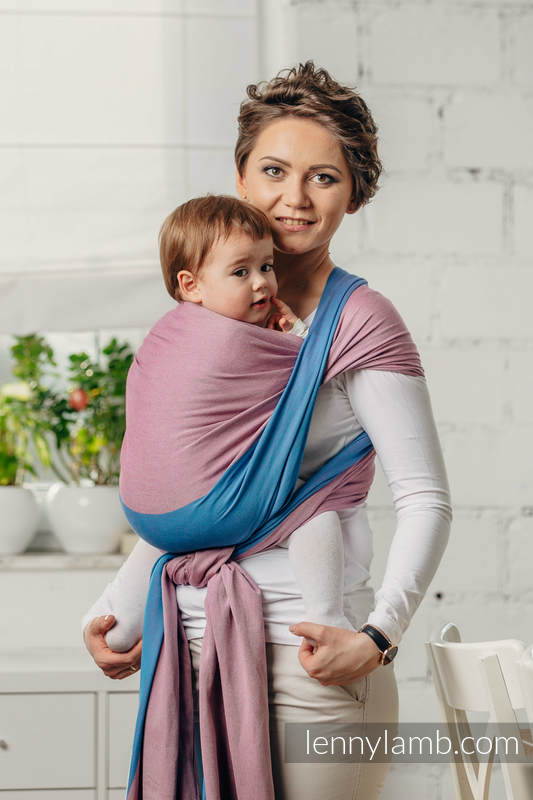 Fular Línea Básica - FLUORITE, tejido de sarga cruzada, 100% algodón, talla M #babywearing