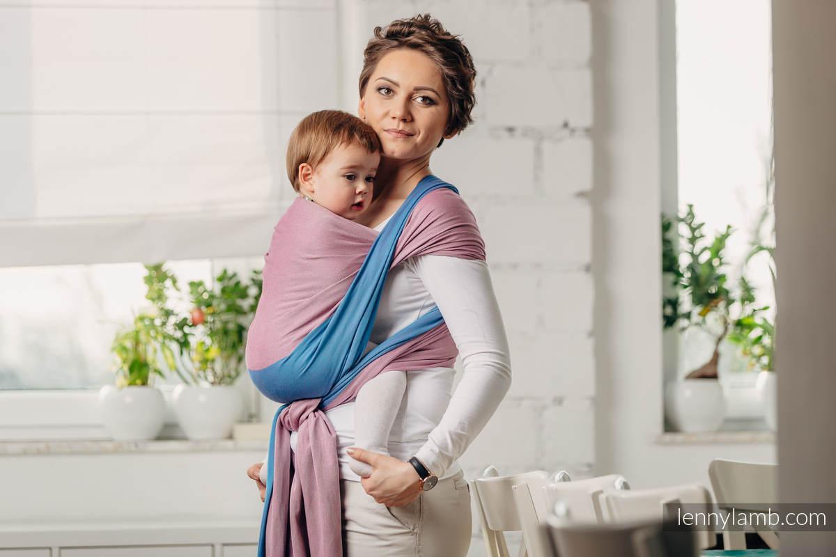 Basic Line Baby Sling - FLUORITE, Broken Twill Weave, 100% cotton, size S (grade B) #babywearing