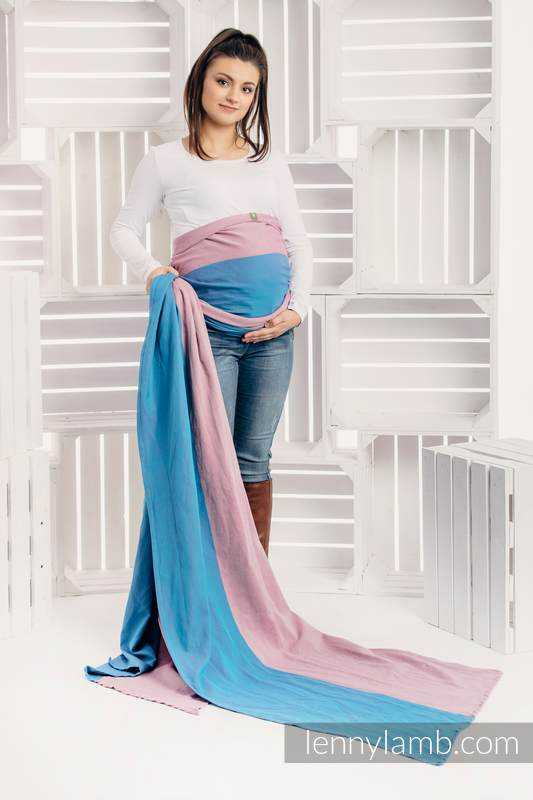 Basic Line Baby Sling - FLUORITE, Broken Twill Weave, 100% cotton, size S #babywearing