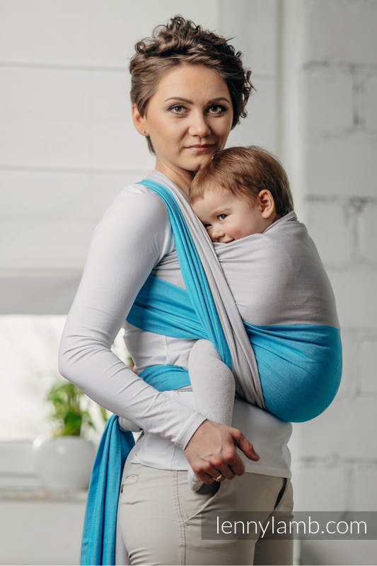 Basic Line Baby Sling - LARIMAR, Broken Twill Weave, 100% cotton, size M (grade B) #babywearing