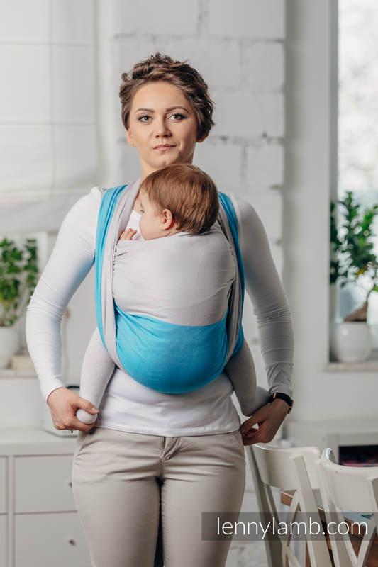Basic Line Baby Sling - LARIMAR, Broken Twill Weave, 100% cotton, size S (grade B) #babywearing