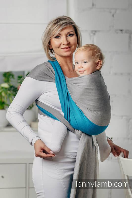 Basic Line Baby Sling - SODALITE, Broken Twill Weave, 100% cotton, size M #babywearing