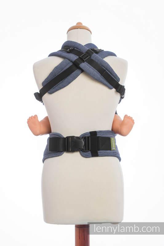 Basic Line Ergonomic Carrier - JEANS, Baby Size, satin weave 100% cotton - Second Generation #babywearing