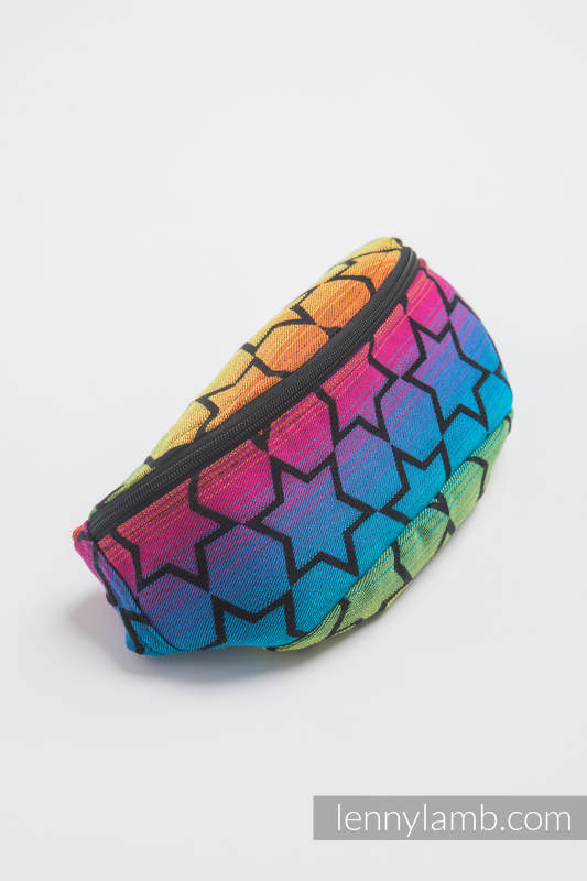 Waist Bag made of woven fabric, (100% cotton) - RAINBOW STARS DARK #babywearing