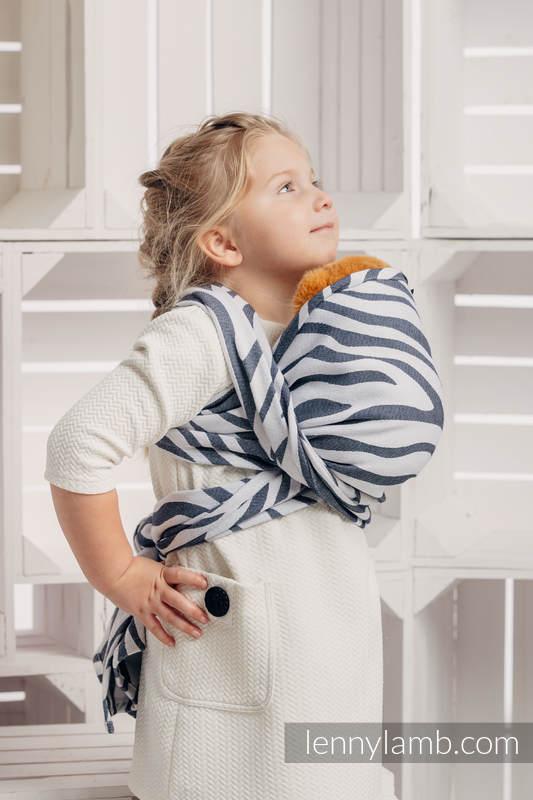 Doll Sling, Jacquard Weave, 100% cotton - ZEBRA GRAPHITE & WHITE #babywearing