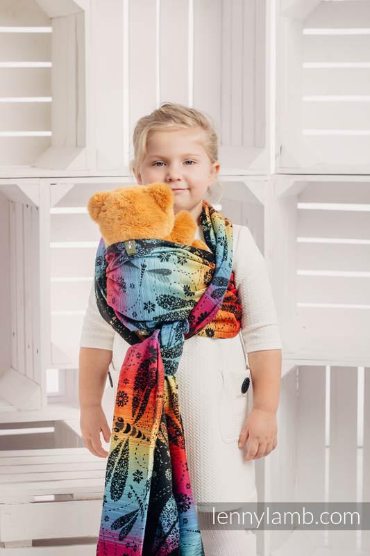 Doll Sling, Jacquard Weave, 100% cotton - DRAGONFLY RAINBOW DARK  #babywearing