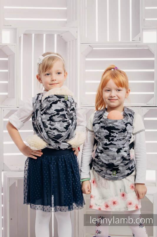 Żakardowa chusta dla lalek, 100% bawełna - SZARE MORO #babywearing