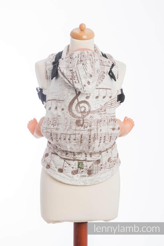Nosidełko Ergonomiczne z tkaniny żakardowej 100% bawełna , Baby Size, SYMFONIA KREM Z BRĄZEM - Druga Generacja #babywearing