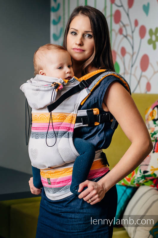 Ergonomic Carrier Baby Size Jacquard Weave 60 Cotton 40 Bamboo