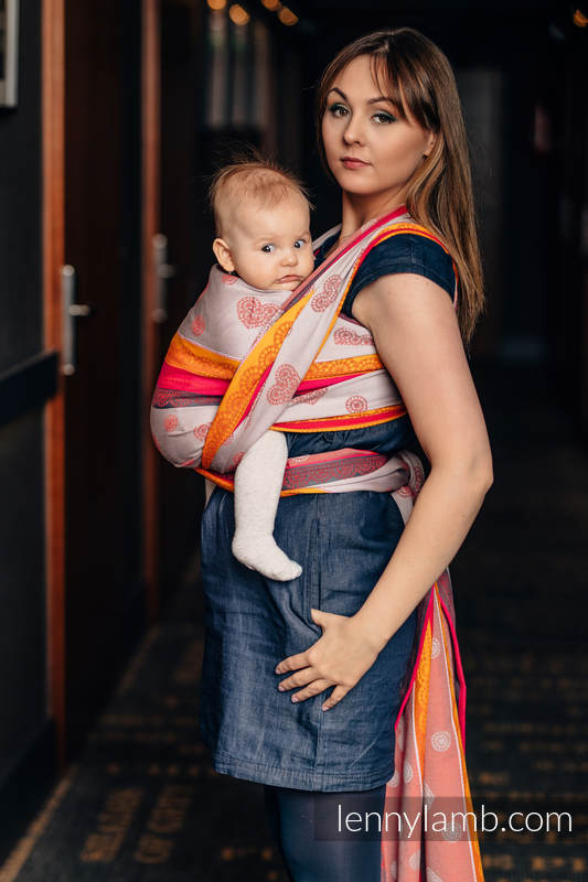 Baby Wrap, Jacquard Weave (100% cotton) - CHERRY LACE 2.0 - size XL #babywearing