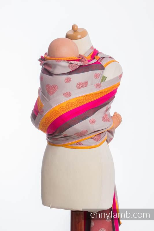 WRAP-TAI carrier Mini with hood/ jacquard twill / 100% cotton / CHERRY LACE 2.0 #babywearing
