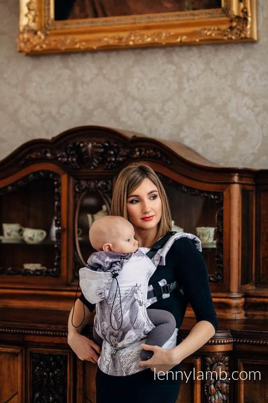 Nosidełko Ergonomiczne z tkaniny żakardowej 100% bawełna , Baby Size, GALOP - Druga Generacja #babywearing