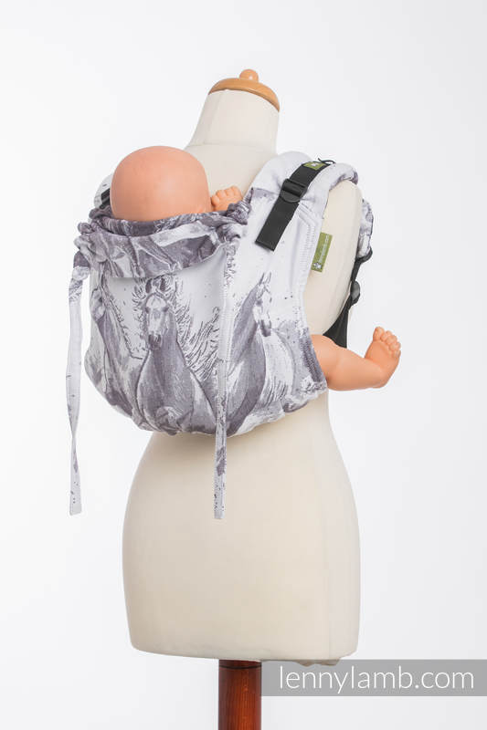 Lenny Buckle Onbuhimo baby carrier, standard size, jacquard weave (100% cotton) - GALLOP  #babywearing