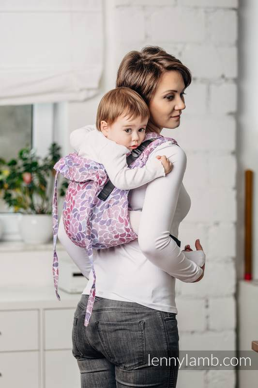 Lenny Buckle Onbuhimo baby carrier, standard size, jacquard weave (100% cotton) - COLOURS OF FANTASY #babywearing
