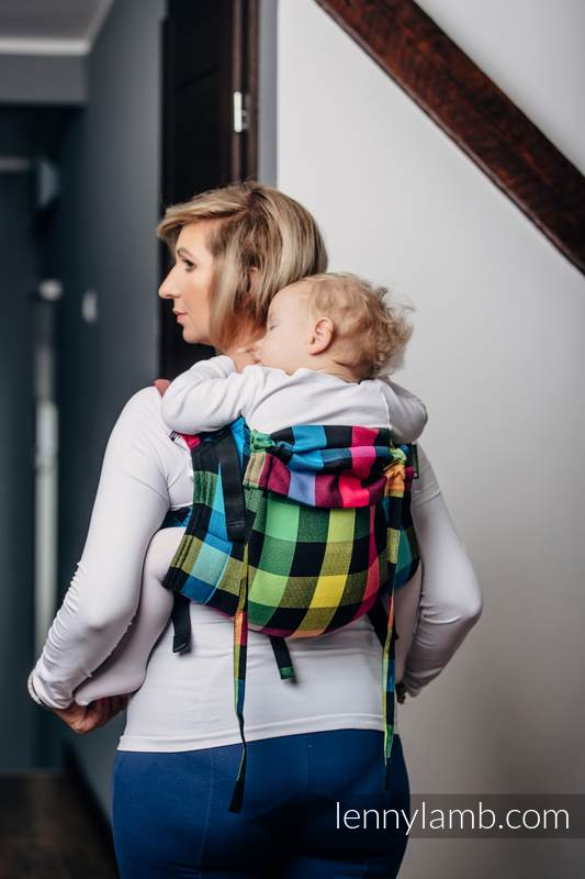 Lenny Buckle Onbuhimo, toddler size, diamond weave (100% cotton) - Wrap conversion from DIAMOND PLAID #babywearing
