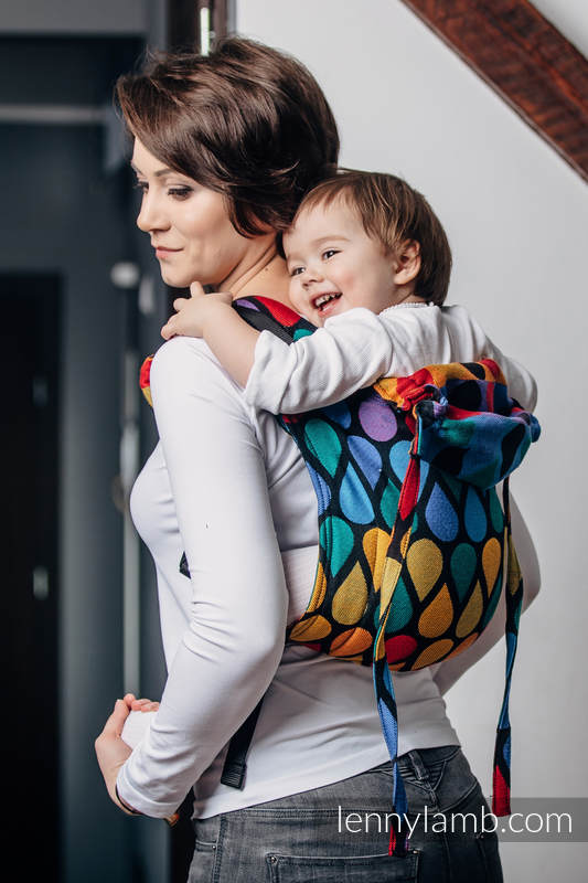Lenny Buckle Onbuhimo baby carrier, standard size, jacquard weave (100% cotton) - JOYFUL TIME #babywearing