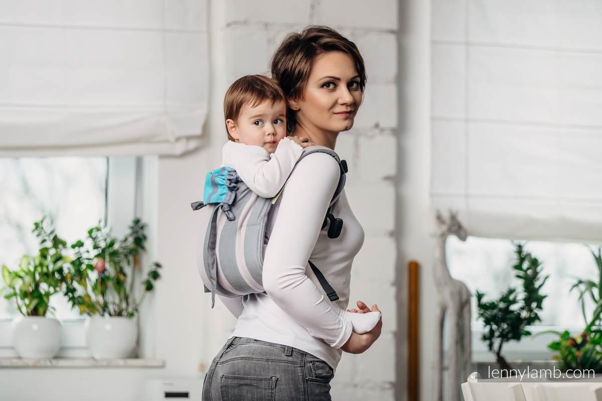 Onbuhimo SAD LennyLamb, talla toddler, sarga cruzada (100% algodón) - MISTY MORNING #babywearing
