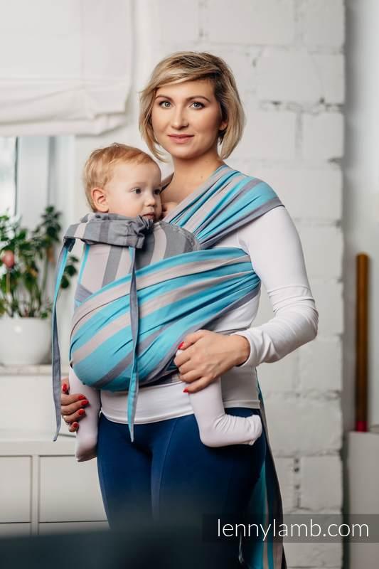 WRAP-TAI portabebé Toddler, sarga cruzada - 100% algodón - con capucha, MISTY MORNING #babywearing
