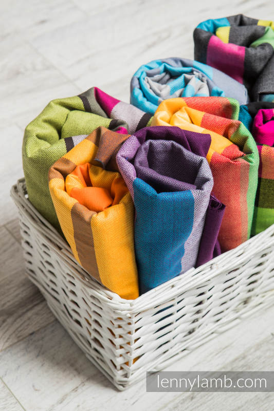 Multicolor Scraps of wrap materials (cross-twill fabrics) #babywearing