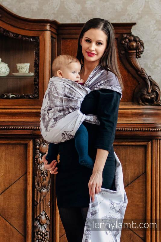 Baby Wrap, Jacquard Weave (100% cotton) - GALLOP - size XL #babywearing