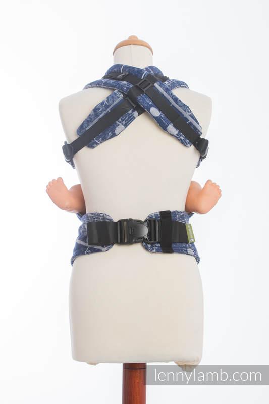 Nosidełko Ergonomiczne z tkaniny żakardowej 100% bawełna , Baby Size, SYMFONIA GRANAT Z SZARYM - Druga Generacja (drugi gatunek) #babywearing