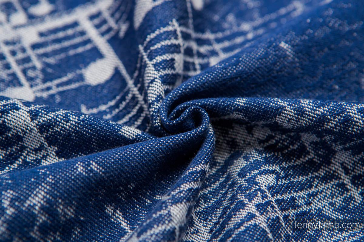 Baby Wrap, Jacquard Weave (100% cotton) - SYMPHONY NAVY BLUE & GREY - size M (grade B) #babywearing