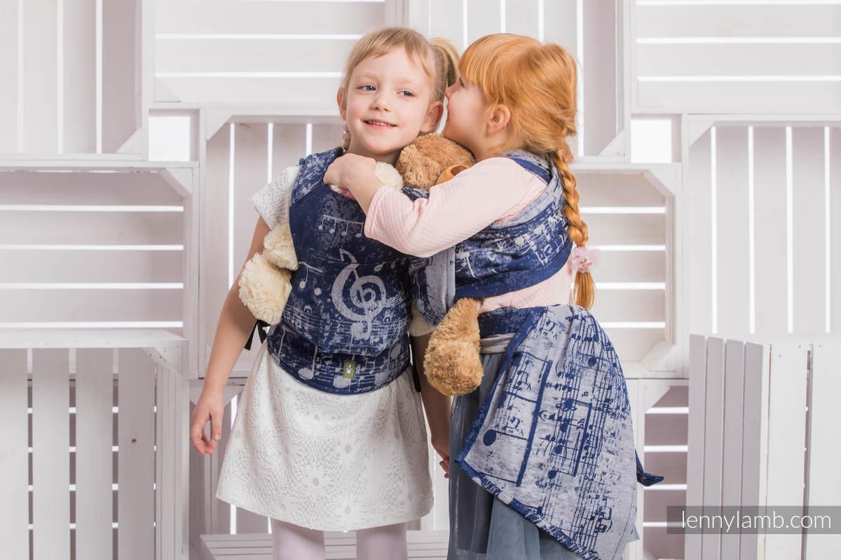 Doll Sling, Jacquard Weave, 100% cotton - SYMPHONY NAVY BLUE & GREY #babywearing